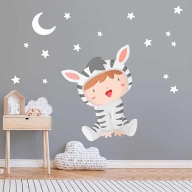 Vinilos infantiles - Bebé disfrazado de cebra