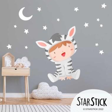 Vinils infantils - Nadó disfressat de zebra