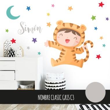 Sticker enfants - Bebé déguisé en tigre