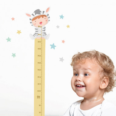 Bébés déguisés - tons pastel - Sticker toise