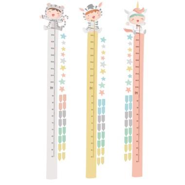 Bebés disfrazados - Tonos pastel - Vinilos medidores de pared