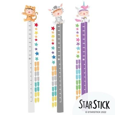 Bebés disfrazados - Vinilos medidores de pared