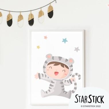 Làmina decorativa - Nadó disfressat de tigre