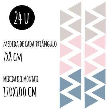Triángulos BIG - 3 colores a elegir - Vinilos decorativos para el hogar
