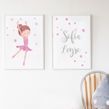 Pack de 2 láminas decorativas - Bailarina