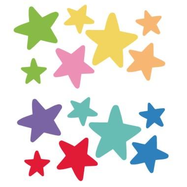 Extra Pack - Estrellas complementarias Extra Packs Extrapack de 14 estrellas de entre 4 y 8 cm de ancho. Tamaño de la lámina: 25x25 cm    vinilos infantiles y bebé Starstick