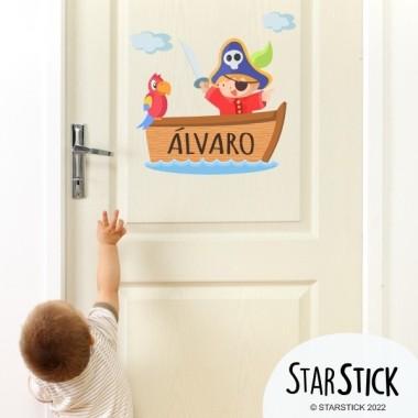 Casita de pájaros - Nombre para puertas Vinilo infantil