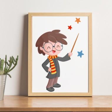 Lámina decorativa de pared - Harry Potter