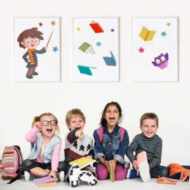 Pack de 3 láminas infantiles - Mago Harry