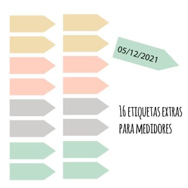 Extra Pack - Etiquetas para medidores. ¡Elige color!