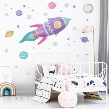 Vinils infantils - Coet a l'espai - Lila