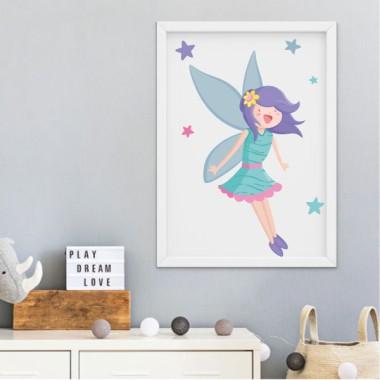 Lámina decorativa de pared - Hada mágica