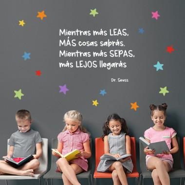 Vinils infantils educatius - Com més llegeixis, més sabràs