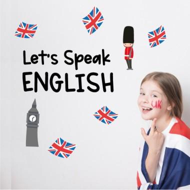 Let's speak english - Vinils decoratius amb frases