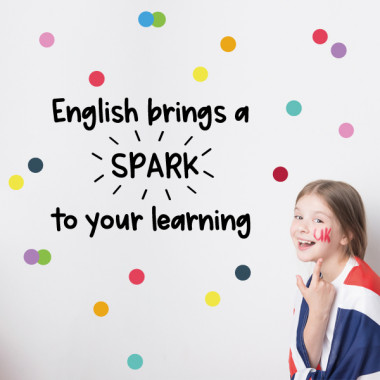 Vinils educatius - English bring spark to your learning