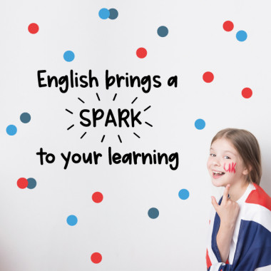 Vinilos educativos - English bring spark to your learning