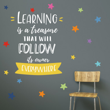Vinilos educativos - Learning is a treasure