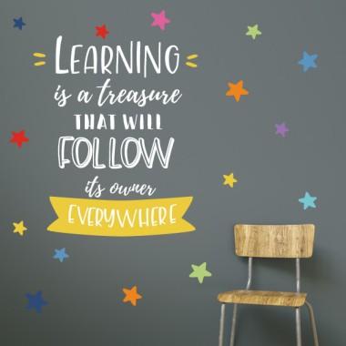 Vinils educatius - Learning is a treasure