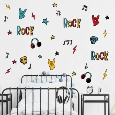 Punk Rock Music - Vinilos decorativos juveniles adolescentes