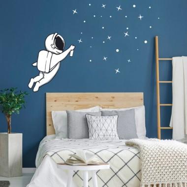 Vinilos decorativos juveniles - Astronauta grafitero