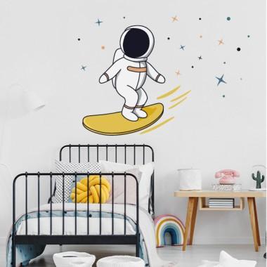 Vinilos decorativos juveniles - Astronauta surfero