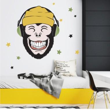 Vinils decoratius juvenils - Music monkey