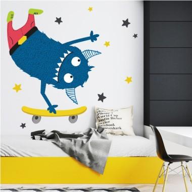 Vinilos decorativos juveniles - Skate monster