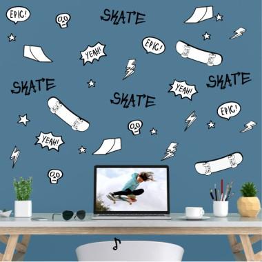 Vinils decoratius juvenils - Skate Comic