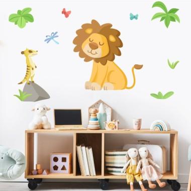 Vinilos infantiles - León - Animales de la selva
