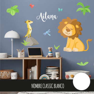 Vinils infantils - Lleó - Animals de la selva