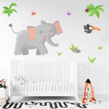 Vinils infantils - Elefant - Animals de la selva