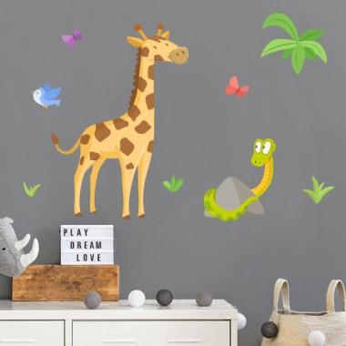 Vinilos infantiles - Jirafa - Animales de la selva