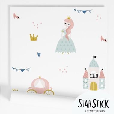 Paper de paret autoadhesiu - Cavallers i castells - Paper pintat infantil