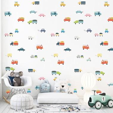 Paper de paret autoadhesiu - Cotxes - Paper pintat infantil