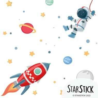 Paper de paret autoadhesiu - Missió espacial - Paper pintat infantil