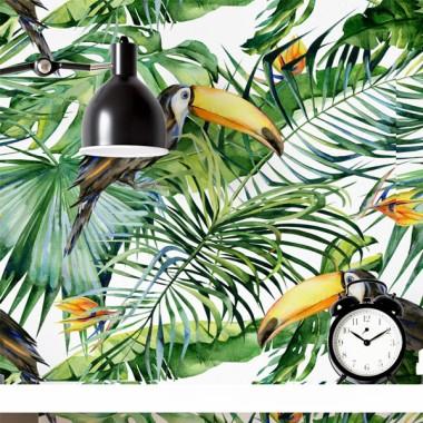 Paper de paret autoadhesiu - Selva amb tucans