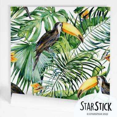 Papel de pared autoadhesivo - Selva con tucanes