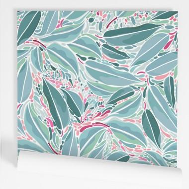 Papel de pared autoadhesivo - Hojas de eucalipto
