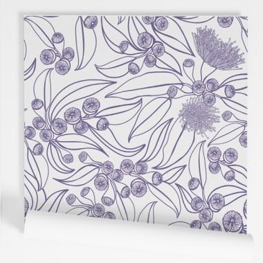 Color a escollir - Paper de paret autoadhesiu - Siluetes de flors