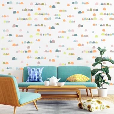Papel de pared autoadhesivo - Montañas de colores Nature