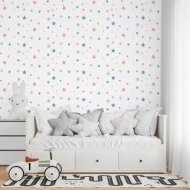 Personalitzable! Paper de paret autoadhesiu - Estrelles color a escollir