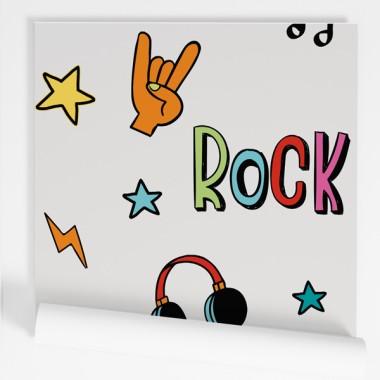 Paper pintat de paret juvenil - Punk Rock Music