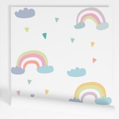 Papel pintado de pared infantil - Arcoíris