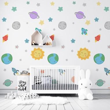Paper pintat infantil - Sistema solar infantil