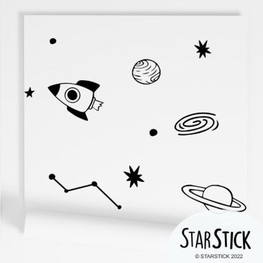 Papel pintado infantil - Space - Negro