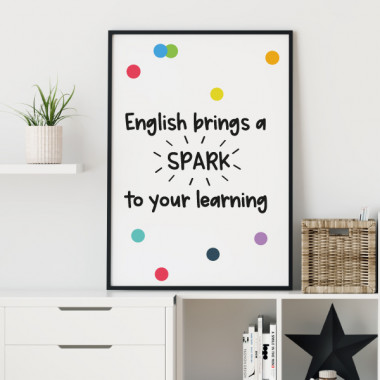 Làmina decorativa - English bring spark to your learning