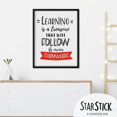 Làmina decorativa - Learning is a treasure