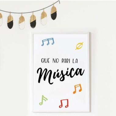Làmina decorativa de paret - Que no pari la música
