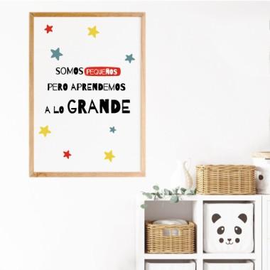 Làmina decorativa - Aprenem coses grans