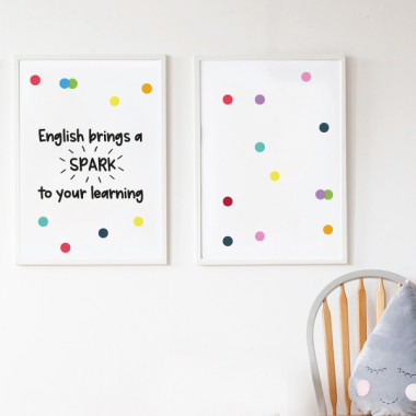 Pack de 2 làmines decoratives - English bring spark to your learning